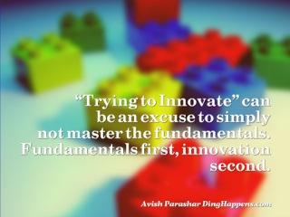 Innovation vs. fundamentals