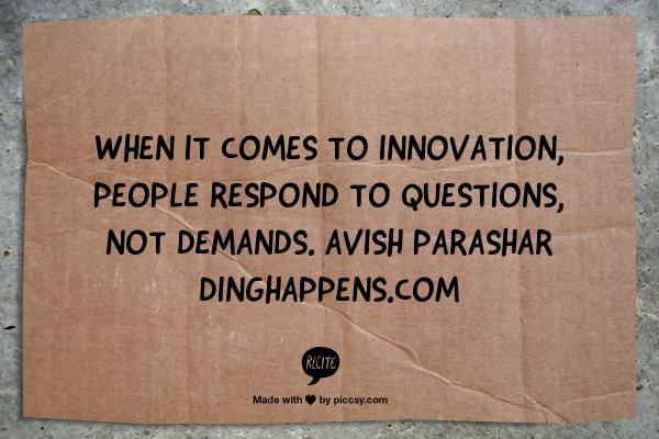 innovation - get buy-in
