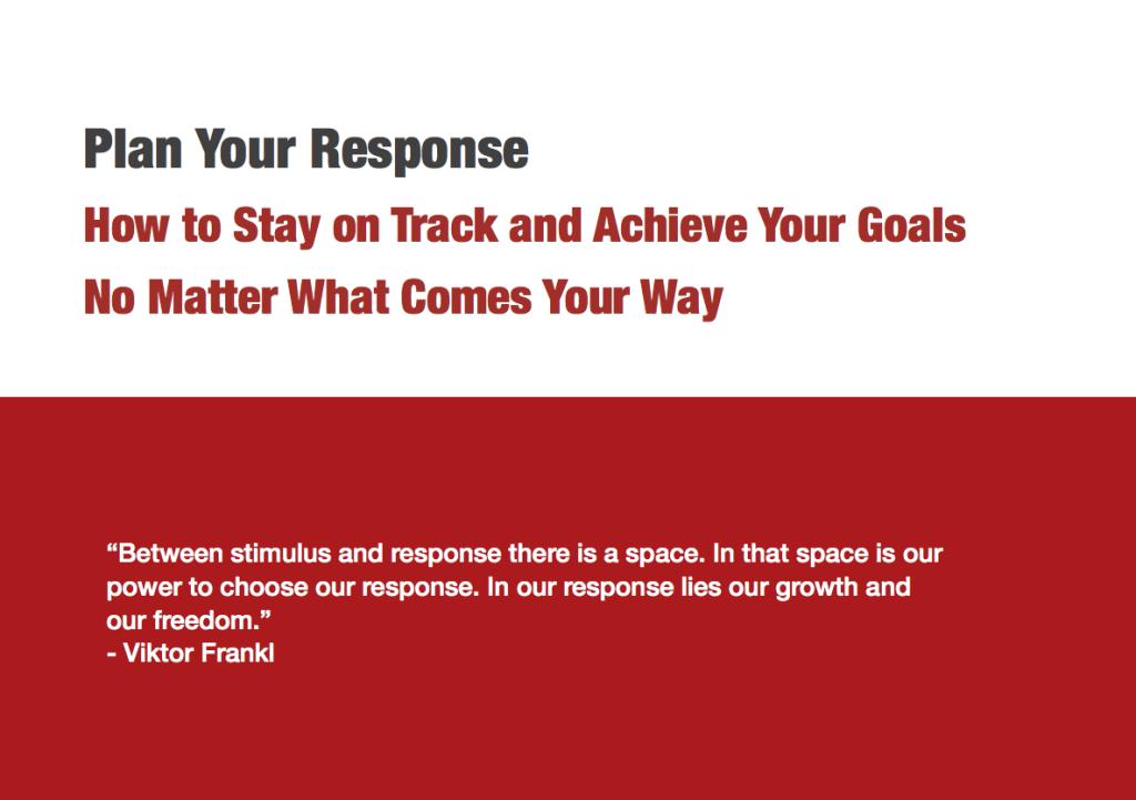 Plan Your Response Worksheet PDF