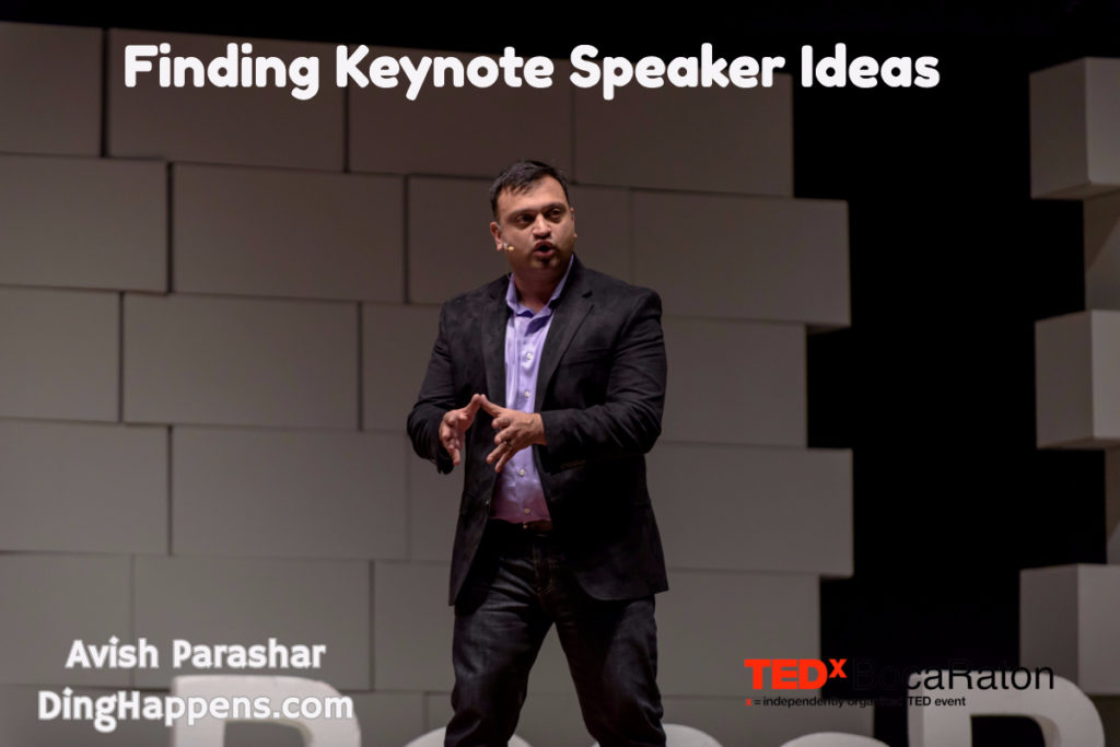 finding a keynote speaker ideas